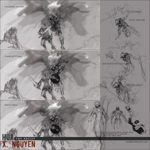 He-Man vs. Skeletor Sketches Part 2